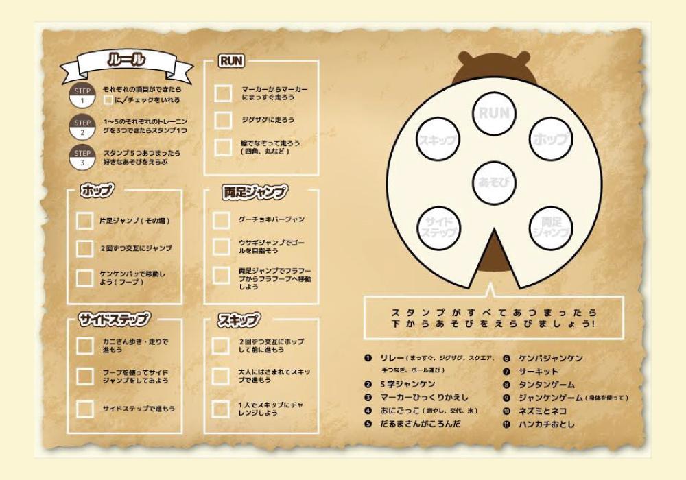 【新下栗店&下高間木店で導入!】チャレンジカードを使って楽しく運動しよう!!・画像