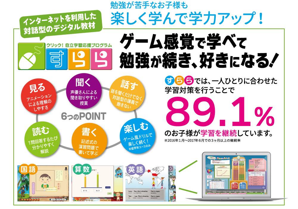 7月1日よりオンライン学習教材「すらら」を導入!@並木店&新真岡西店・画像